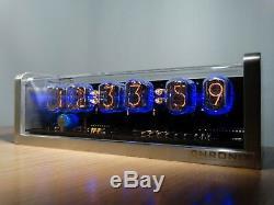 Rétro Unique 6xin-12 Tubes Nixie Horloge En Aluminium Usiné Cnc Cas D'alarme Rétro