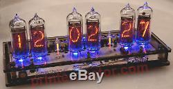 Réveil À 6 Tubes Nixie In-14 - Boîtier En Acrylique Beige - Lampe À Led Avec Télécommande - USA