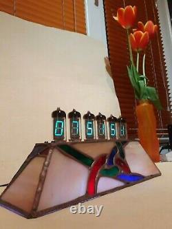 Réveil En Vitrail Unity Avec Tubes Vfd Wifi Ntp Iv11 Monjibox Nixie