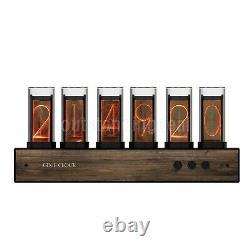 Rgb Led Glow Tube Horloge Numérique Nixie Horloge Électronique Rétro Bureau Horloge 6 Bit 5 V