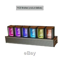Rgb Led Horloge Glow Tube Nixie Tube Réveil Électronique Lumineux Assemblé