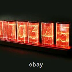 Rgb Simulation Glow Tube Led Nixie Acrylic Digital Alarm Clock Network Timing
