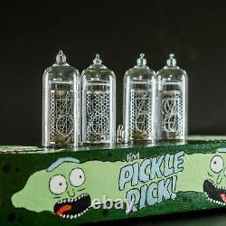 Rick Et Morty Nixie Tube Clock In-14 Tubes Nixie Remplaçables, Détecteur De Mouvement