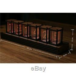 Rvb Simulation Glow Tube Horloge Led Diy Kit De Bureau Décoration Nixie Tube Clock