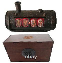 Skullshady Nixie Tubes Horloge, Vintage Rétro Fait 3d Gift Art Déco Boho Chic