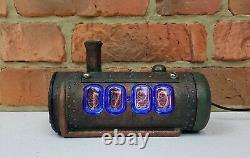 Skullshady Nixie Tubes Horloge Vintage Rétro Hand Made 3d Gift Art Déco Steam Punk