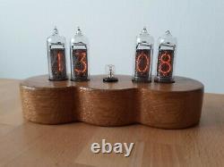 Snowman Jewel Series Monjibox Nixie Uhr Horloge In14 Tubes Oak Case