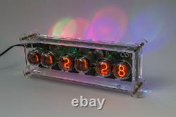 Sonya Nixie In-4 Tubes Desk Clock + Boîtier + Alimentation + Remote + Rgb + Effets