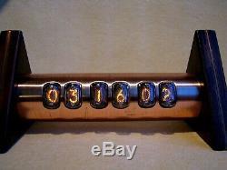 Tobleron Nixie Clock In17 Cas Tubes Vintage De Cuivre Steampunk Par Monjibox