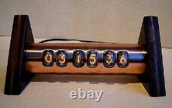 Tobleron Nixie Clock With In17 Tubes Copper Case Steampunk Par Monjibox