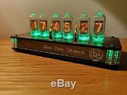 Tube De Bureau Nixie Horloge De Bad Dog Designs Obsidian '