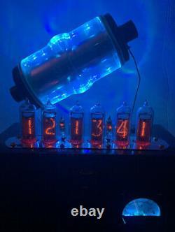 Tube Nixie Clock In-14. Steampunk. Condensateur À Vide Rgb Lit 30kv. Changement De Couleur