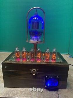 Tube Nixie Clock In-14. Steampunk. Vintage U.s. Navy, Tube Tung-sol Ctl-705a H/v