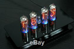 Tube Nixie Horloge Avec 4 Pièces In-14 Tubes Avec Rétro-éclairage Rgb Alarme Et Carillon