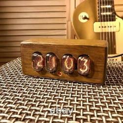 Tube Nixie Premium Clock In-12. Oak Enceinte. Meilleur Cadeau
