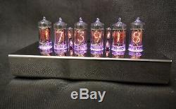 Tube T-1000 De Bureau Nixie En Acier Inoxydable Horloge De Bad Dog Designs