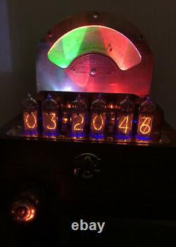 Tubes Nixie Clock In-14. Cuivre Steampunk, Laiton Et Verre. Weston 264 Et Décatron