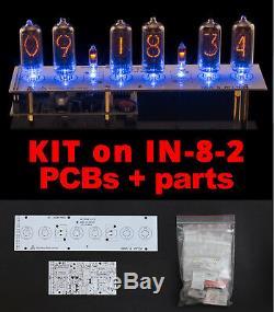 Tubes Nixie Clock N-pcb Bricolage 8-2 Kit + Toutes Les Pièces, Mini Divergence Compteur Avec Tuyaux