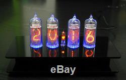 Tubes Nixie Horloge Avec 4 Pièces Ultra Rare Mince Grille In-14 Tubes Rétro-éclairage Rgb