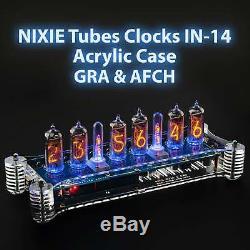 Tubes Nixie Horloges-14 En Acrylique Cas Option Ir À Distance, Gps Et Température