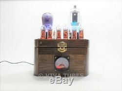 Ultra Cool USA Fabriqué Nixie Tube Vide Horloge Steampunk 6 Chiffres Led Multi Couleur
