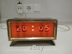 Ultra Rare! Horloge De Bureau Vintage Tubes Russe Nixie Elektronika 1960