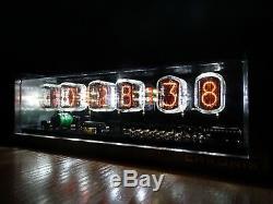 Unique 6xin-12 Tubes Nixie Horloge Alarme En Aluminium Usiné Cnc Blanc Conduit Cas