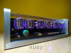Unique Rétro 6xin-12 Nixie Tubes Clock Cnc Boîtier En Aluminium Usiné Alarme Led Rose