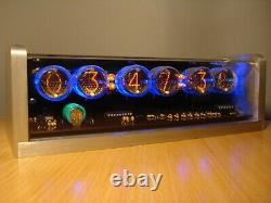 Unique Rétro 6xlc-513 Nixie Tubes Horloge Cnc Boîtier En Aluminium Usiné Alarme Rétro
