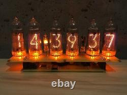 Ups Assemblé Big Nixie Tubes Horloge De Bureau Et Calendrier Vintage In-14 X 6 Russe