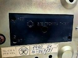 Urss Vintage Elektronika 7 Space Age Nixie Tube Lampes Horloge Murale. Rare