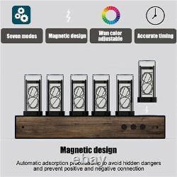 Vintage 16m Nixie Tube Horloge Gixie Usb Digital Horloge De Piégeage De Noix Assemblé