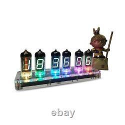 Vintage 6iv-11 (-11) Vide Vfd Nixie Tube Clock Usb Horloge De Réveil Numérique