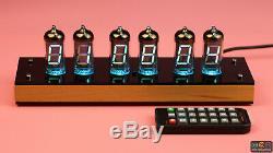 Vintage Iv-11 Vfd Nixie Tube Clock Diy Kit. Caisse En Bois. Father Papa Bf Cadeau