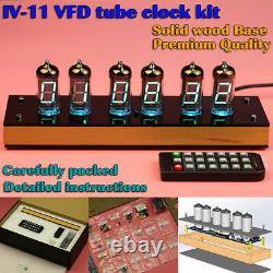 Vintage Iv-11 Vfd Nixie Tube Clock Diy Kit. Étui En Bois. Père Papa Fils Bf Cadeau