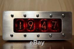 Vintage Tube Nixie Clock In-12 Retro Clock Vidéo À L'intérieur