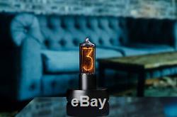 Zin18 In18 Horloge Tube Nixie Dans La Conception Unique De Chiffres Boîtier En Aluminium Noir Classique