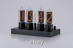 Zin18 In18 New Nixie Tube Clock Classique En Aluminium Noir Cas Wifi Android / Iphone