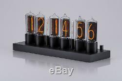 Zin18 In18 New Nixie Tube Clock Noir Aluminium Case Wifi Android / Iphone Configuration