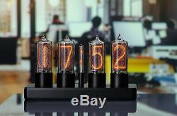 Zin18 In18 New Nixie Tube Clock Rounded Black Aluminium Case Wifi Android / Iphone