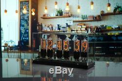 Zin18 In18 Nixie Tube Clock Base Aluminium Noir Big Sizw 15 Ans De Garantie
