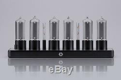 Zin18 In18 Nixie Tube Clock Noir Aluminium Case Wifi Android / Iphone Skeleton