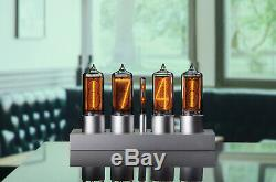 Zin18 In18 Nixie Tube Horloge En Aluminium Anodisé Argent Cas Wifi Android / Iphone