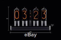 Zin18 In-18 Nixie Tube Clock Argent Boîtier En Aluminium Wifi Android / Iphone Configuration