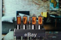 Zin18 In-18 Nixie Tube Clock Classique Argent Boîtier En Aluminium Wifi Android / Iphone