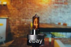 Zin18 In-18 Single Digit Nixie Tube Clock Silver Aluminium Case Plus Grande Taille