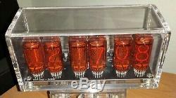 Zm1040 Nixie Tube Clock, Avec 6 Tubes Et Enveloppe Lexan, Assemblés